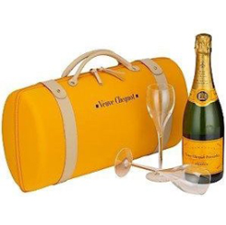 Kit Traveller 750ml + 2 Taças + Maleta Veuve Clicquot LVMH 5719