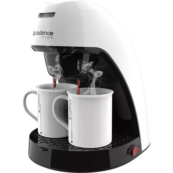 Foto 1 - Cafeteira Elétrica Cadence Single Colors 2 Xíc. 450W Branco 240ml 110V CAF210-127