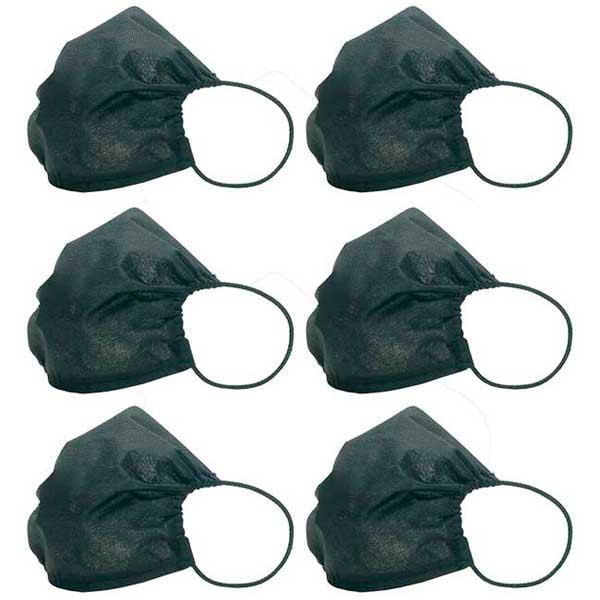 Máscara Mood Uso Social Compartimento para Filtro - 6 Unidades Preto MSCX02/6