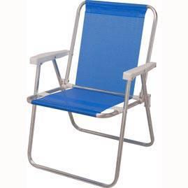 Cadeira de Praia Mor Alta em Aluminio e Sannet Azul 002274