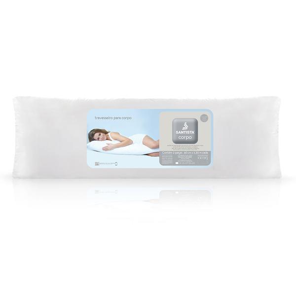 Travesseiro para Corpo Santista Capa 150 Fios Branco