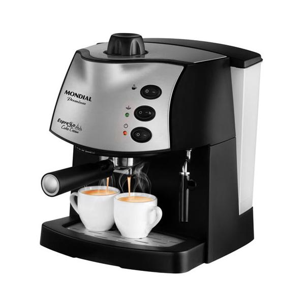 Cafeteira Expresso Mondial Coffee Cream Premium C-08 Preto/Prata - 15 Bar