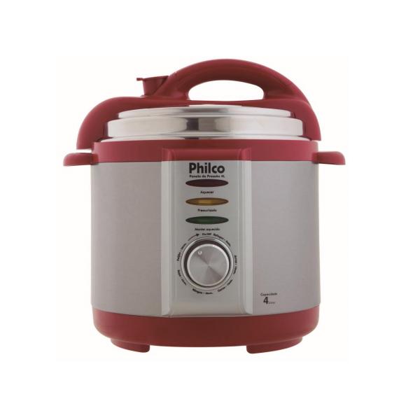 Panela de Pressão Elétrica Philco 8 Xíc. 800W Vermelha 4L 110V       056401035