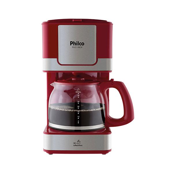 Cafeteira Elétrica Philco PH31 30 Cafés 800W Inox/Red 220V       053902024