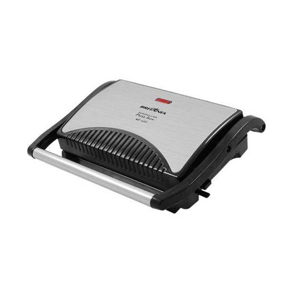 Grill e Sanduicheira Britânia Press 640W Inox/Preto 220V 064002073