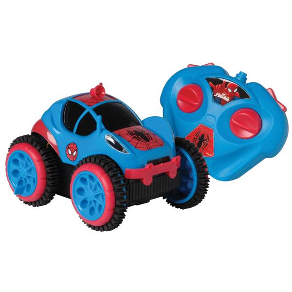 Carro Controle Remoto Candide Spider Man Spider Flip Azul 5851
