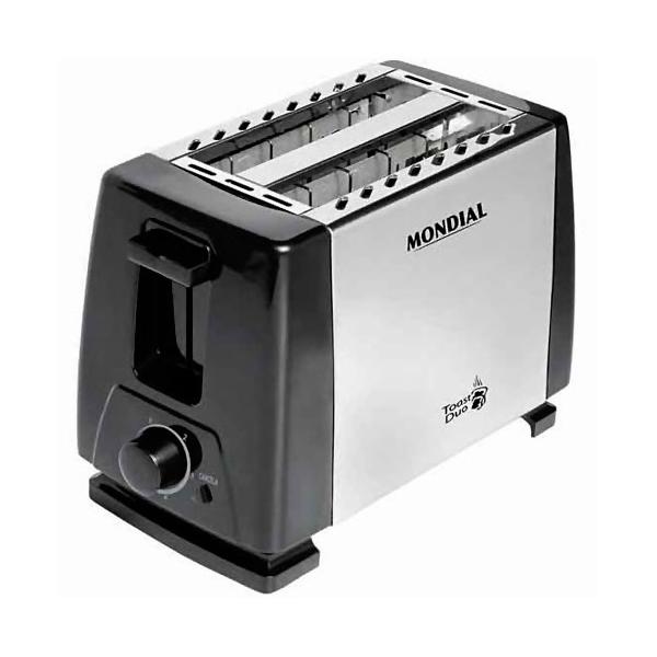Torradeira Mondial Toast Duo Prata/Preto 110V       NT-01