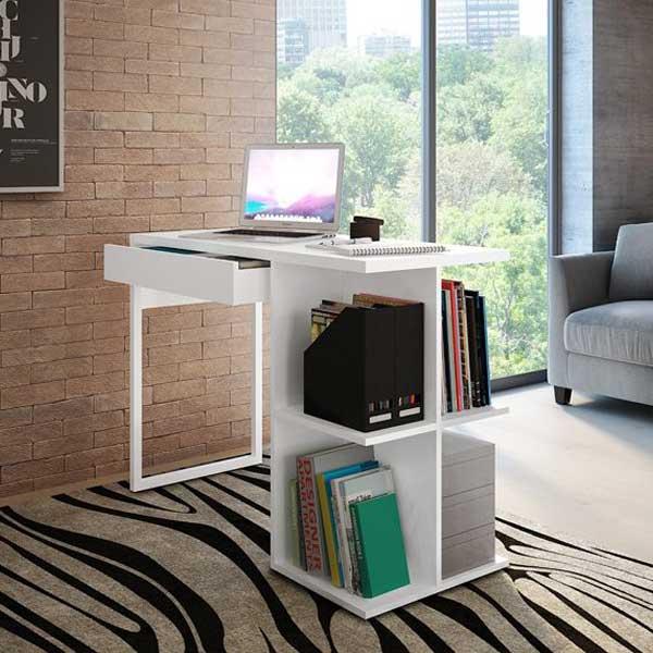 Mesa para Computador Multivisão Boss Multiuso com 1 Gaveta Branco MESA BOSS BR