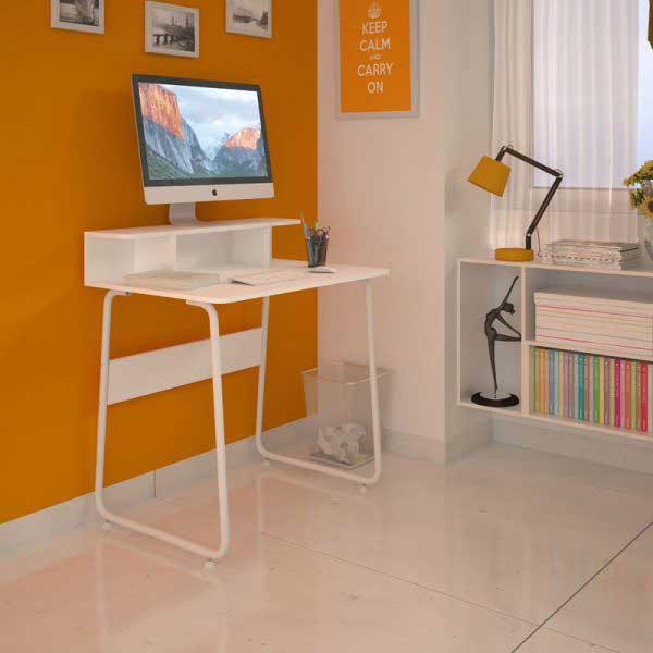 Mesa para Computador Multivisão Job Multiuso Bran Branco MESA JOB BR