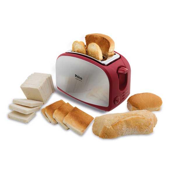 Torradeira Philco French Toast 900W Inox/Vermelho 220V       056202011