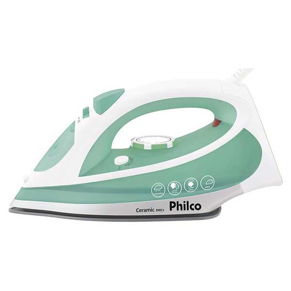 Ferro a Vapor Philco Ceramic PFEC1 1200W Branco/Verde 110V       053601012