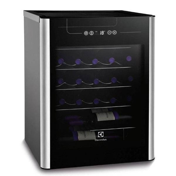 Adega Electrolux para 24 Gar. com até 18° C Preto/Inox 110V       ACS24