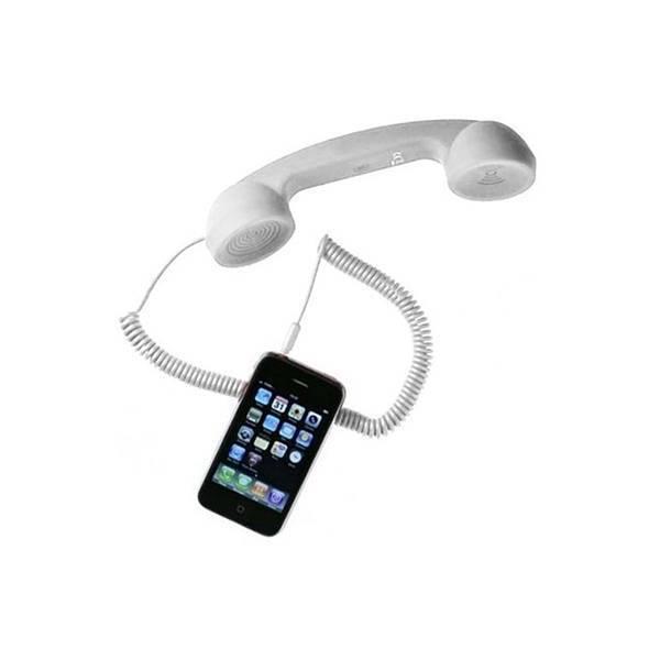 Monofone Vivitar Estilo Retro Para Celular e Tablet Branco Iph20788