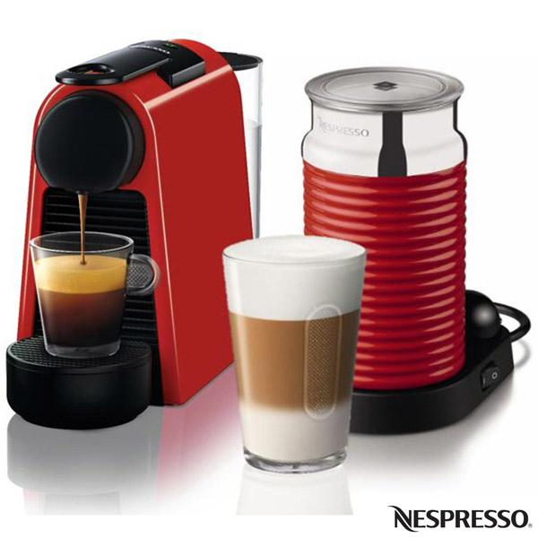 Cafeteira Expresso Nespresso Essenza Mini Combo com Aeroccino 1100W Vermelho...