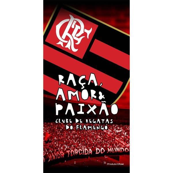 Toalha de Banho Bouton Flamengo Aveludada 1,40 x 0,70 m 45087