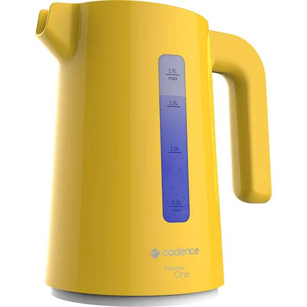 Chaleira Elétrica Cadence Thermo One Colors 1850W Amarelo 1,7L 220V CEL384-220