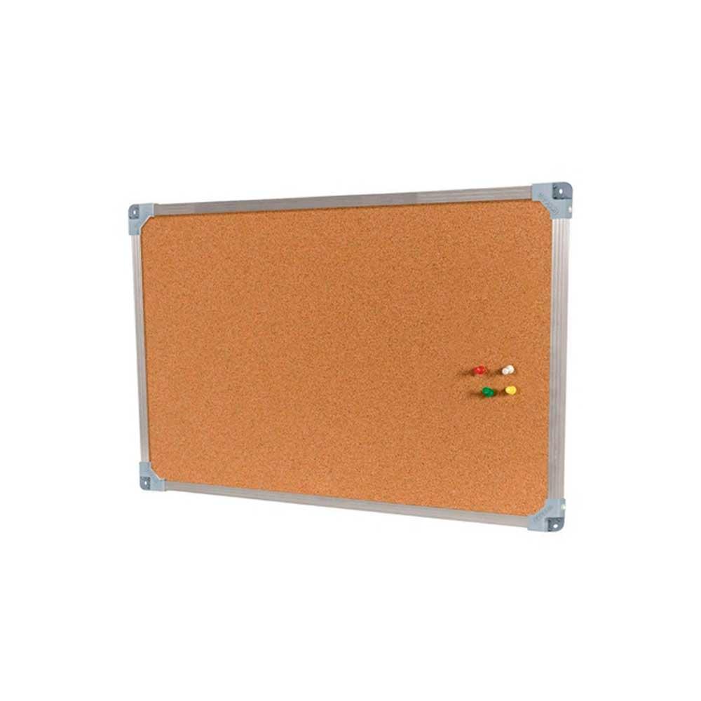 Quadro de Avisos Easy Office Cortiça Moldura Alumínio 60 x