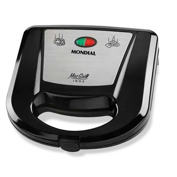 Grill e Sanduicheira Mondial Mac Grill 750W Preto/Inox 110V S-11