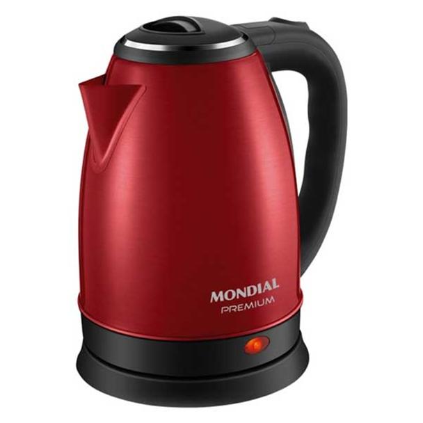 Chaleira Elétrica Mondial Premium Vermelho 2L 220V CE-06-R
