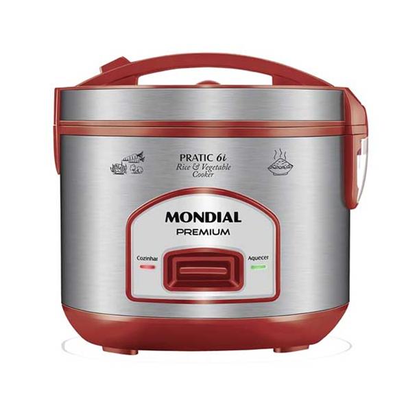 Panela Elétrica Mondial Pratic Rice 6i 500W Red 6 Xíc 110V PE-45-6X