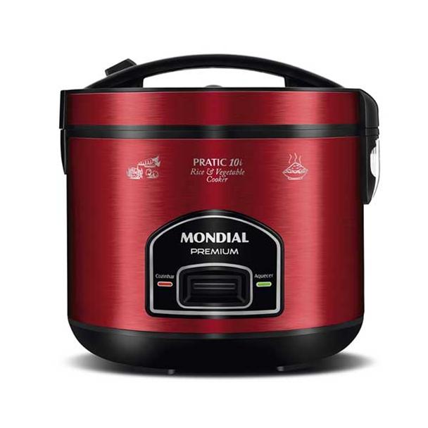 Panela Elétrica Mondial Pratic Rice 10i Multifuncional 700W Red 10 Xíc 110V...