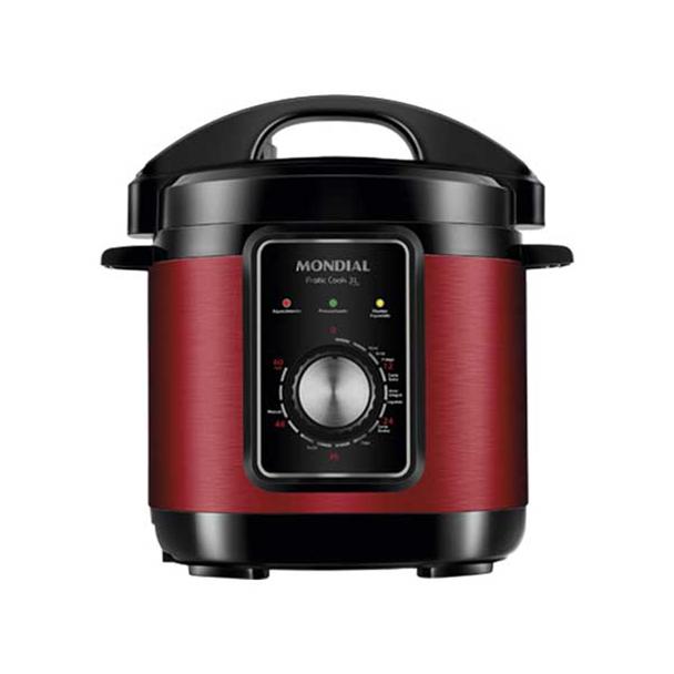 Panela de Pressão Elétrica Mondial Pratic Cook Premium Red I 3L 220V PE-47-3L-RI