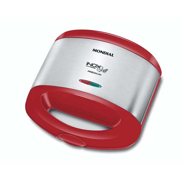 Grill e Sanduicheira Mondial Inox Red Premium 800W 220V S-19
