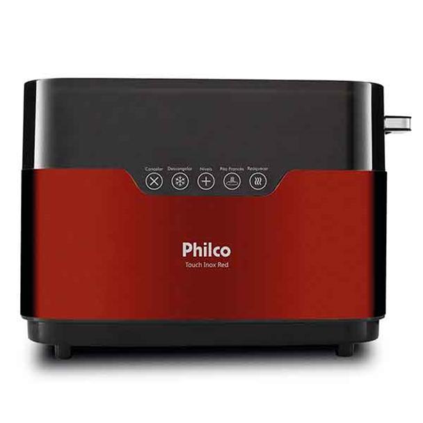 Torradeira Philco Touch Inox Red 850W 110V PTR03