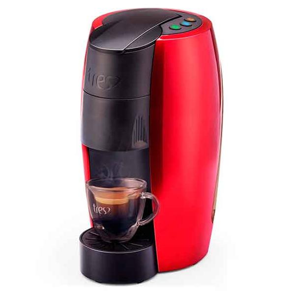 Máquina de Café Expresso Automática TRES LOV Multibebidas  Vermelha