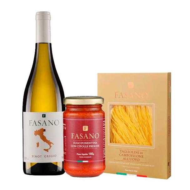 Vinho Pinot Grigio Fasano IGT 750ml - Fasano + Massa Tagliolini + Molho...