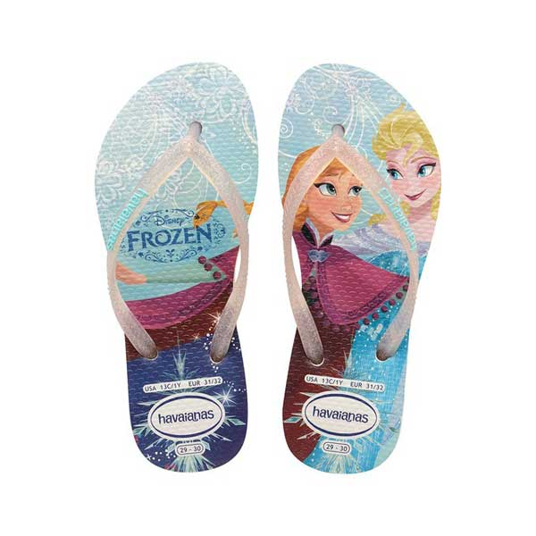 Sandália Havaianas Princesas Frozen Branco 35/6 4123328 - 0001 - 35/6