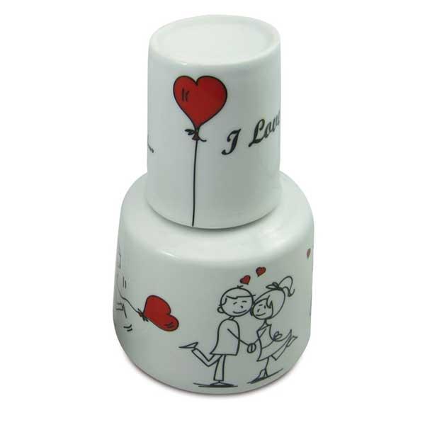 Moringa 750ml Com Caneca 150ml - I Love You - Bon Gourmet