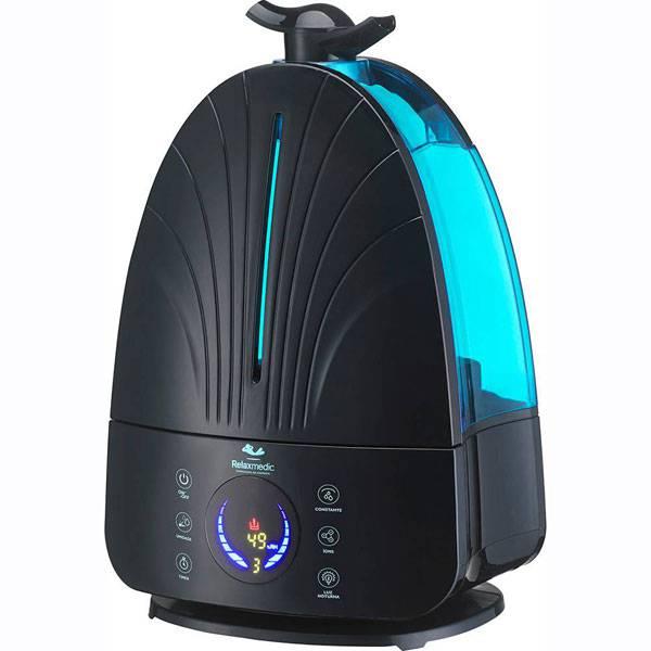 Umidificador Relax Medic Digital Breath Ion Preto Bivolt     RM-HD0118