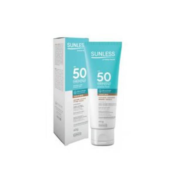 Protetor Solar Facial Farmax Sunless FPS50 Bronze 60gr 7896902212602