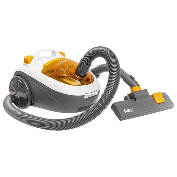 Aspirador de Pó Wap Ambiance Turbo Bagless 1600W Branco/Amarelo 220V FW004644