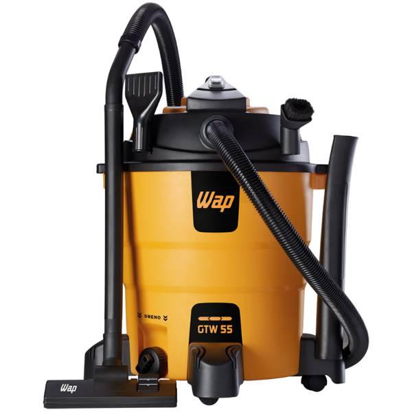 Soprador e Aspirador de Pó e Água Wap GTW 55 1600W Amarelo/Preto 55L 220V...