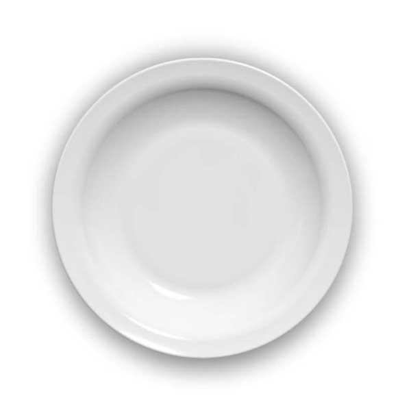 Prato Fundo Nadir Duralex Opaline Gourmet - 1 Unidade - Branco 22,5 cm...