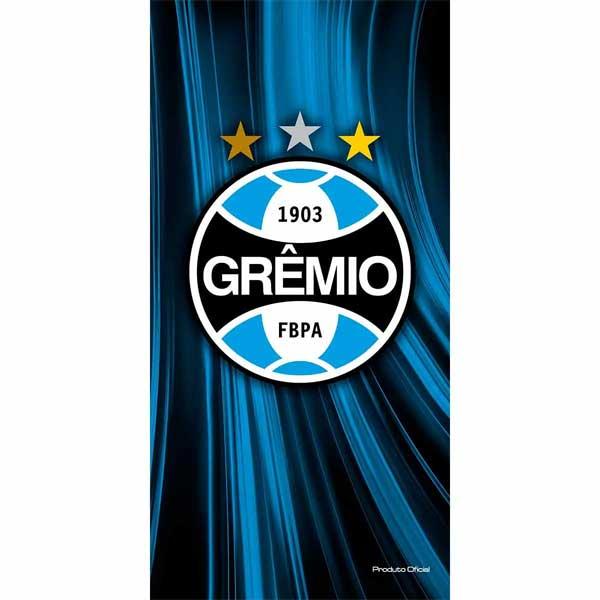 Toalha de Banho Bouton Grêmio Brasão Aveludada 70 x 140 cm 63797