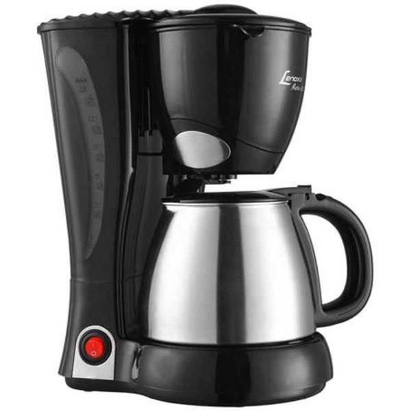 Cafeteira Elétrica Lenoxx Inox 800W Preta 110V PCA023