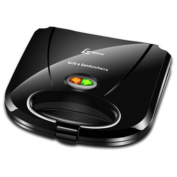 Grill e Sanduicheira Lenoxx Fast 750W Preta 220V PSD111