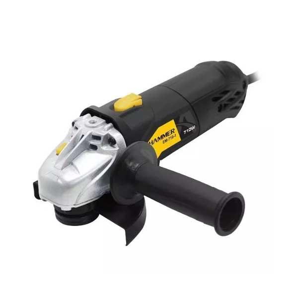 """Esmerilhadeira Angular Hammer 4.1/2"""" 710W Preto 220V GYEM7101"""