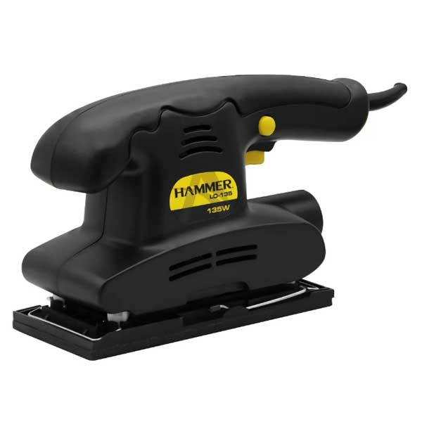 "Lixadeira Obital Elétrica Hammer 1/3"" 135W Preto 220V GYLO135"