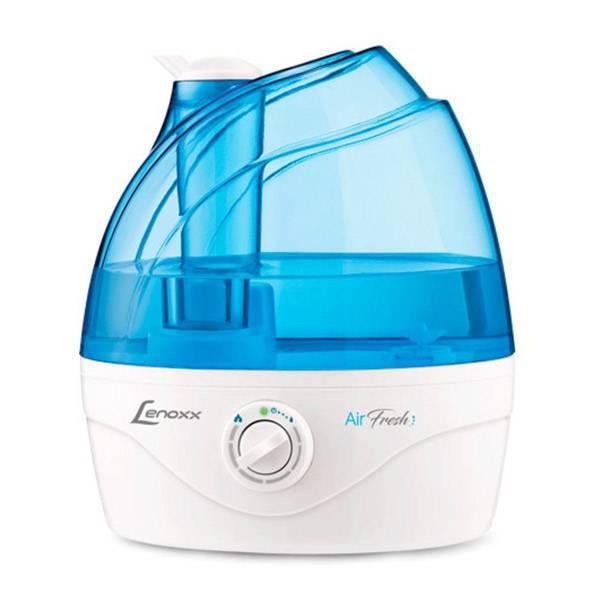 Umidificador de Ar Lenoxx Air Fresh 2,4 litros Branco e Azul Bivolt PUA715