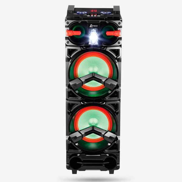 Caixa Amplificada Lenoxx USB Bluetooth LED Lights 800W/RMS Preta/Vermelho CA3900