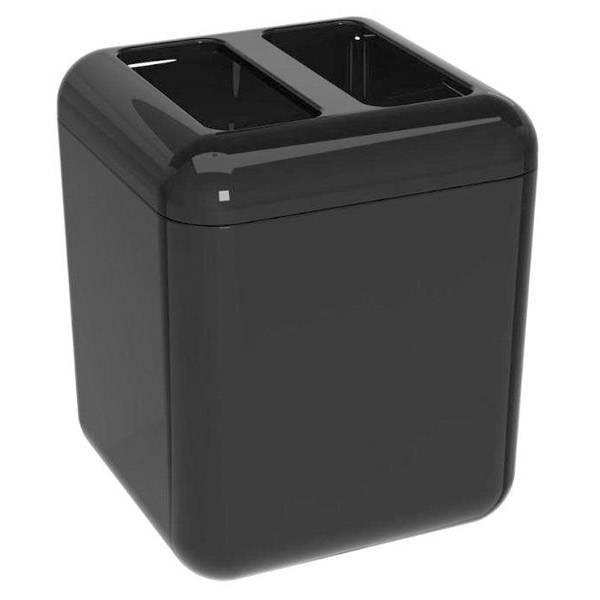Porta-escova Coza Cube Preta 20876/0008