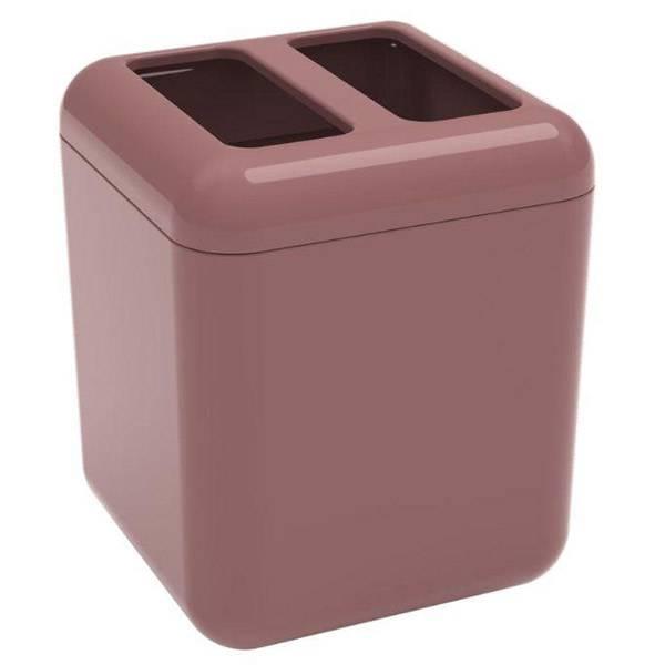 Porta-escova Coza Cube Rosa 20876/0481