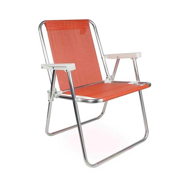 Cadeira de Praia Mor Alta Alumínio Coral 002277