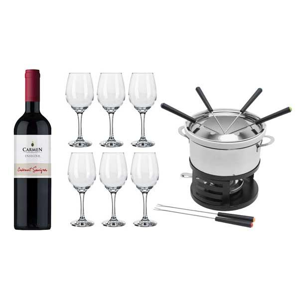 Vinho Carmen Insigne Cabernet Sauvignon 750ml Viña Carmen + Jogo Taças de Vinho...