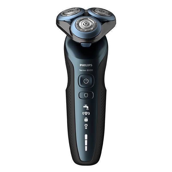 Barbeador Philips UltraTrack Preto e Azul Bivolt S6610/11