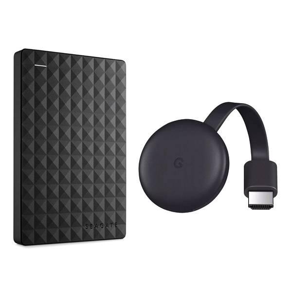 Kit HD Externo Seagate Expansion Portátil 1TB USB + Chromecast 3 Hdmi 1080p...